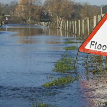 Flooding sign.