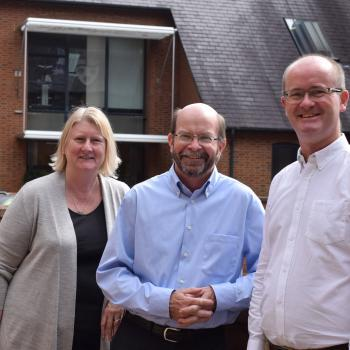 Prof Simon Maddocks, Vice Chancellor of Charles Darwin University visits University Centre Shrewsbury